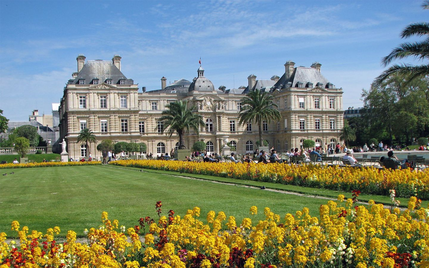 Paris france luxembourg gardens 1440x900 world inside for Jardin france