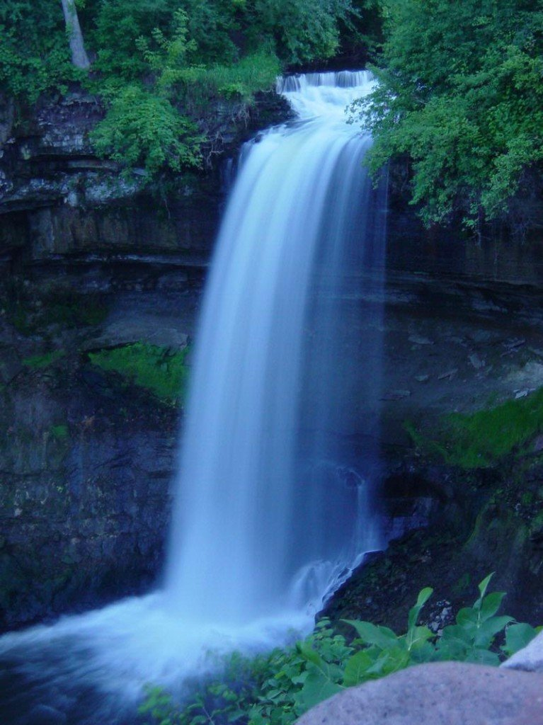 Behind the Minnehaha Falls