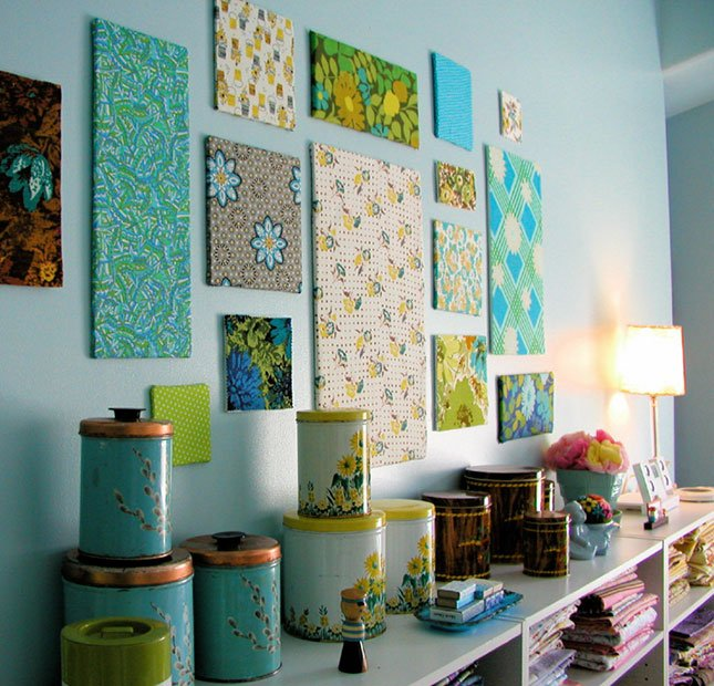 15 creative diy wall art ideas to decorate your space for Space fabric panel
