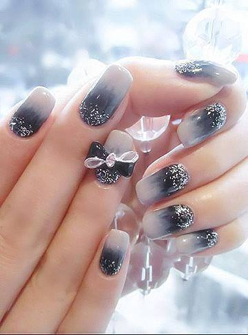 Black and white nail art design world inside pictures advertisements prinsesfo Choice Image