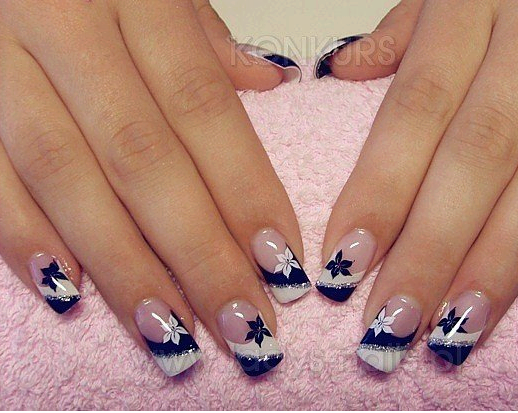 black and white nail art design world inside pictures. Black Bedroom Furniture Sets. Home Design Ideas