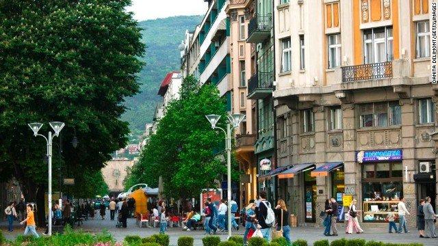 Macedonia Street and Macedonia Square, Skopje, Macedonia
