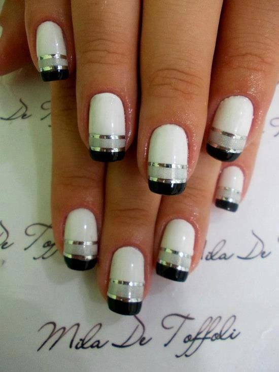 Black and white nail art design world inside pictures 7 prinsesfo Choice Image