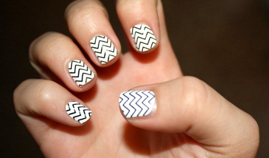 Nail art line images nail art and nail design ideas black and white nail art design world inside pictures source prinsesfo images prinsesfo Image collections