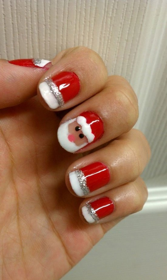 15-Simple-Easy-Christmas-Nail-Art-Designs-Ideas-2012-For-Beginners-Learners-14