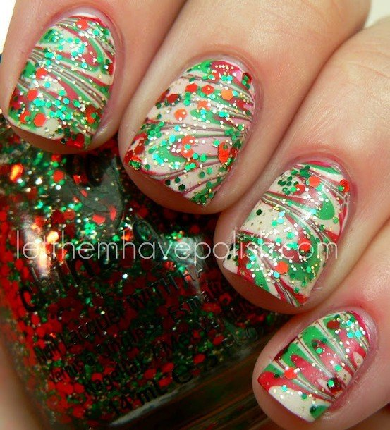 Christmas Nail Art World Inside