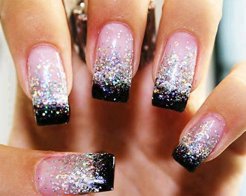 38 amazing nail art design for your christmas new years eve source 51 prinsesfo Images