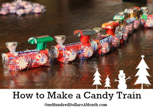 18.How To Make A Candy Train – Easy Kids Christmas Crafts