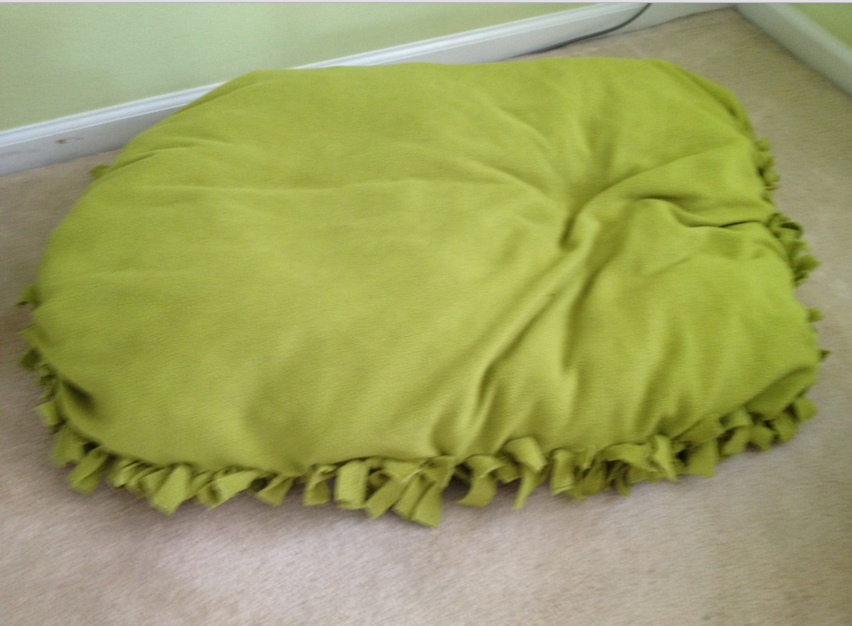 DIY NO SEW Doggy Bed or Floor Pillow & 15 No Sew DIY Pillow Ideas   World inside pictures pillowsntoast.com