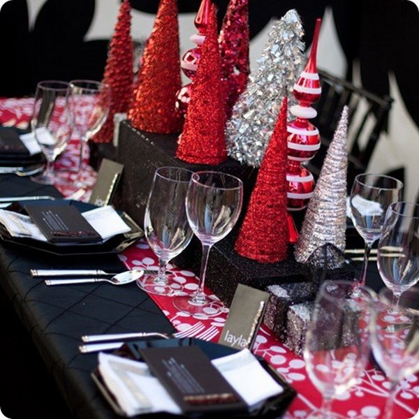 Modern christmas table decorations world inside pictures for Modern table centerpieces
