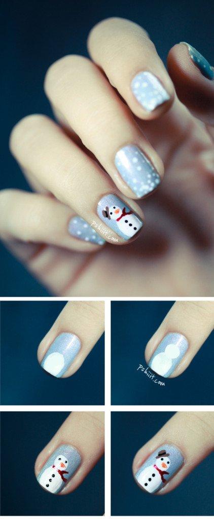 snowman-nail-art