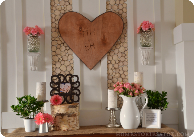 23 cute and romantic diy home decor ideas for valentine 39 s for Valentine decorations to make at home