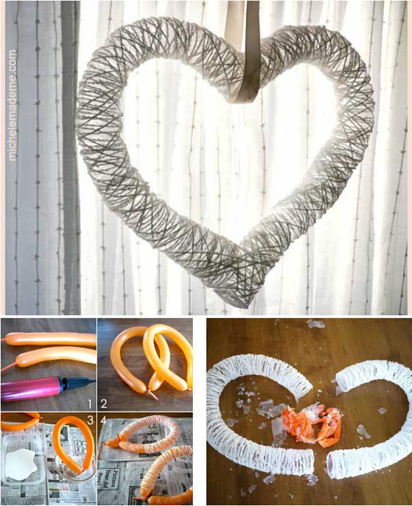 26 cute heart shaped diy crafts for valentines day world - Home decoration handmade ideas ...