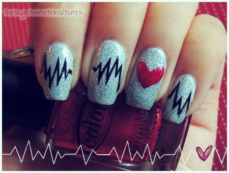 31 Lovely Valentine\'s Day Nail Art Ideas | World inside pictures