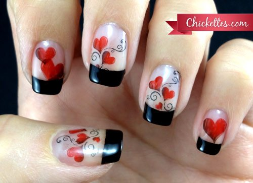 source 26 - 30 Best, Simple & Charming Valentine's Day Nail Art Designs