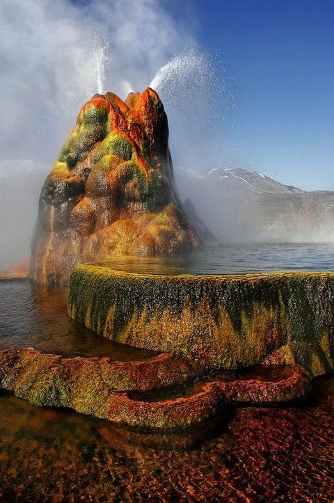 Fly Geyser, Nevada, U.S.