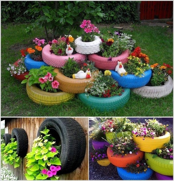 24 cool diy ideas how to reuse old tyres world inside - Decorations de jardin ...