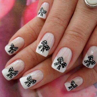 30 stylish nail art designs with bows world inside pictures source 21 prinsesfo Choice Image