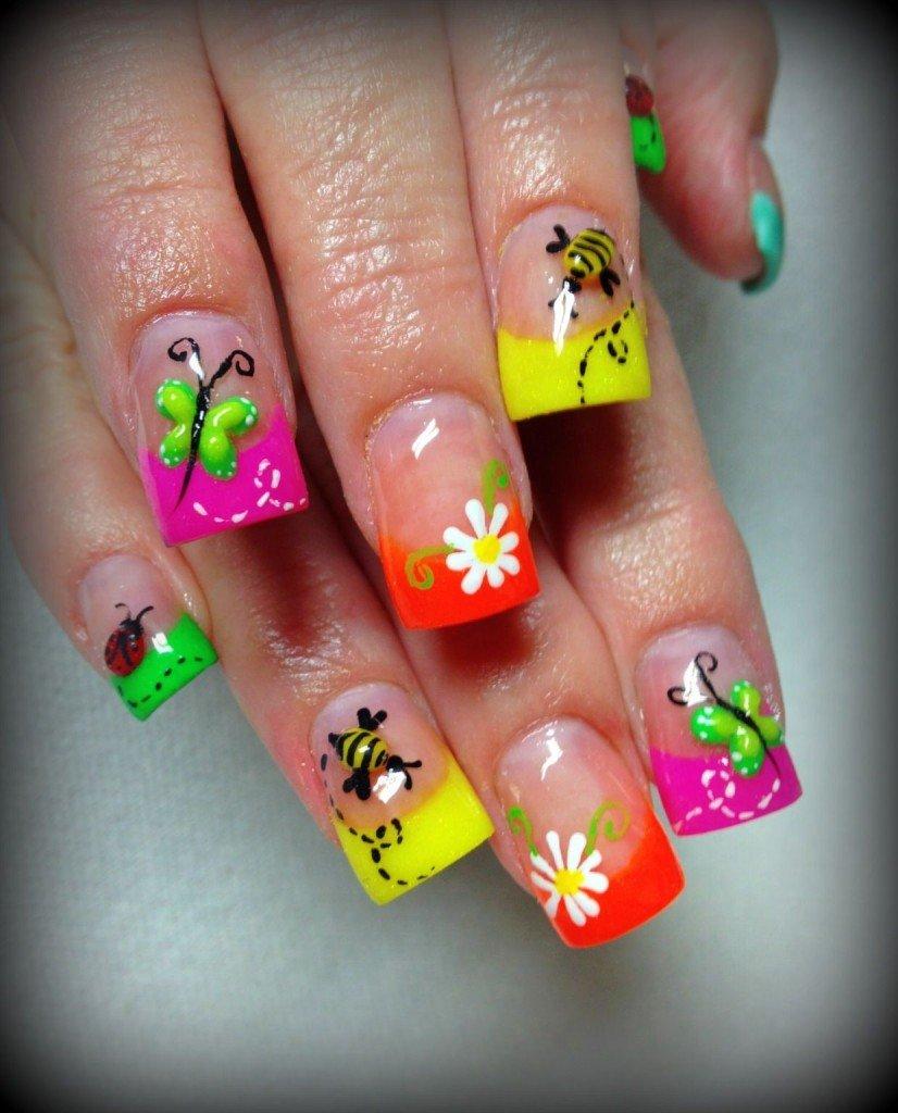 Spring Summer Nail Art Design
