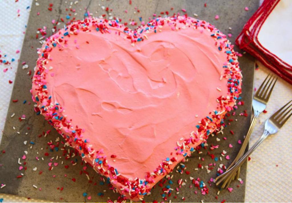 Торт сердечком своими руками 11