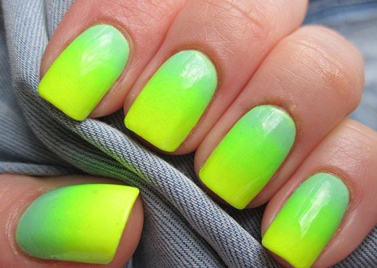 14 - 25 Trendy Neon Nail Art Designs World Inside Pictures