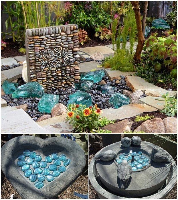 20 diy garden ideas that you must try this spring world inside pictures - Pebble garden decoration ideas ...