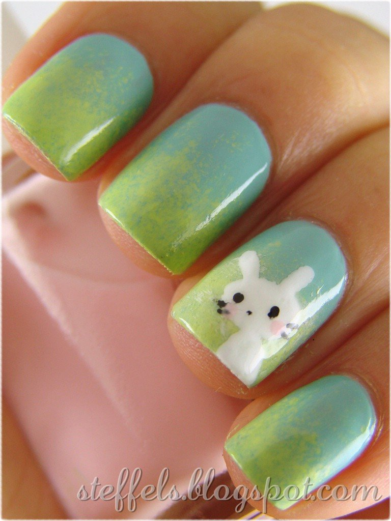 Easy nail art easter simple easter art nail gallery creative ideaseaster bunny nail art ideas view images adorable easter prinsesfo Image collections