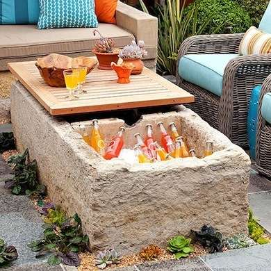 10 impressive diy ways to keep your drinks cooler on your outdoor coffee table cooler solutioingenieria Images