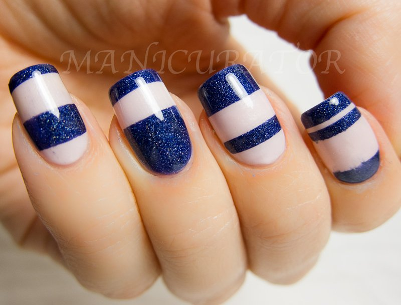 Navy blue nail art choice image nail art and nail design ideas 18 creative blue nail art designs world inside pictures photo via manicurator prinsesfo choice image prinsesfo Gallery