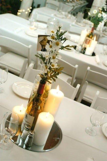 Wedding Centerpiece Ideas Using Wine Bottles : Diy wine bottle centerpieces for your wedding world