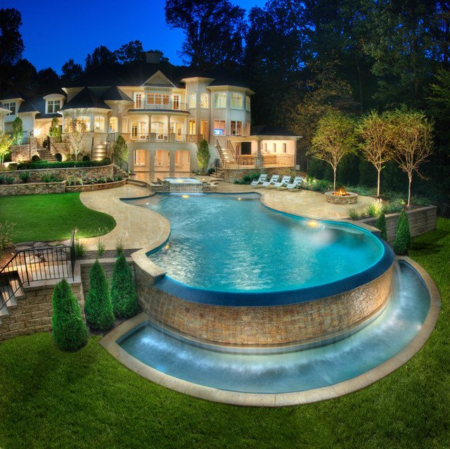 Luxury Swimming Pools With Waterfalls luxury swimming pools - most wanted features