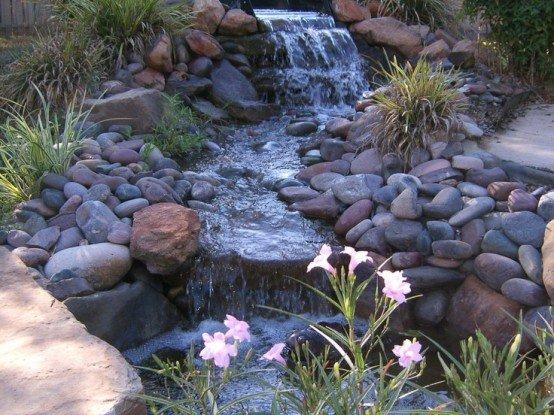 Пруд с водопадом своими руками из подручных материалов