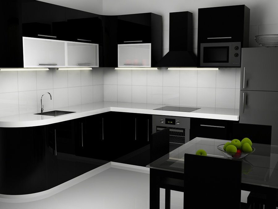 attractive Black Kitchens Designs #7: ... Black Kitchen Designs World inside pictures. 16 ...