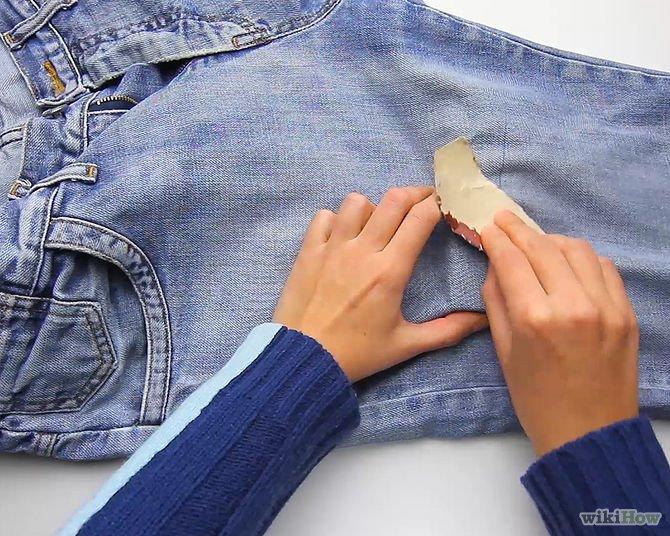 Как быстро сделать потертости на джинсах