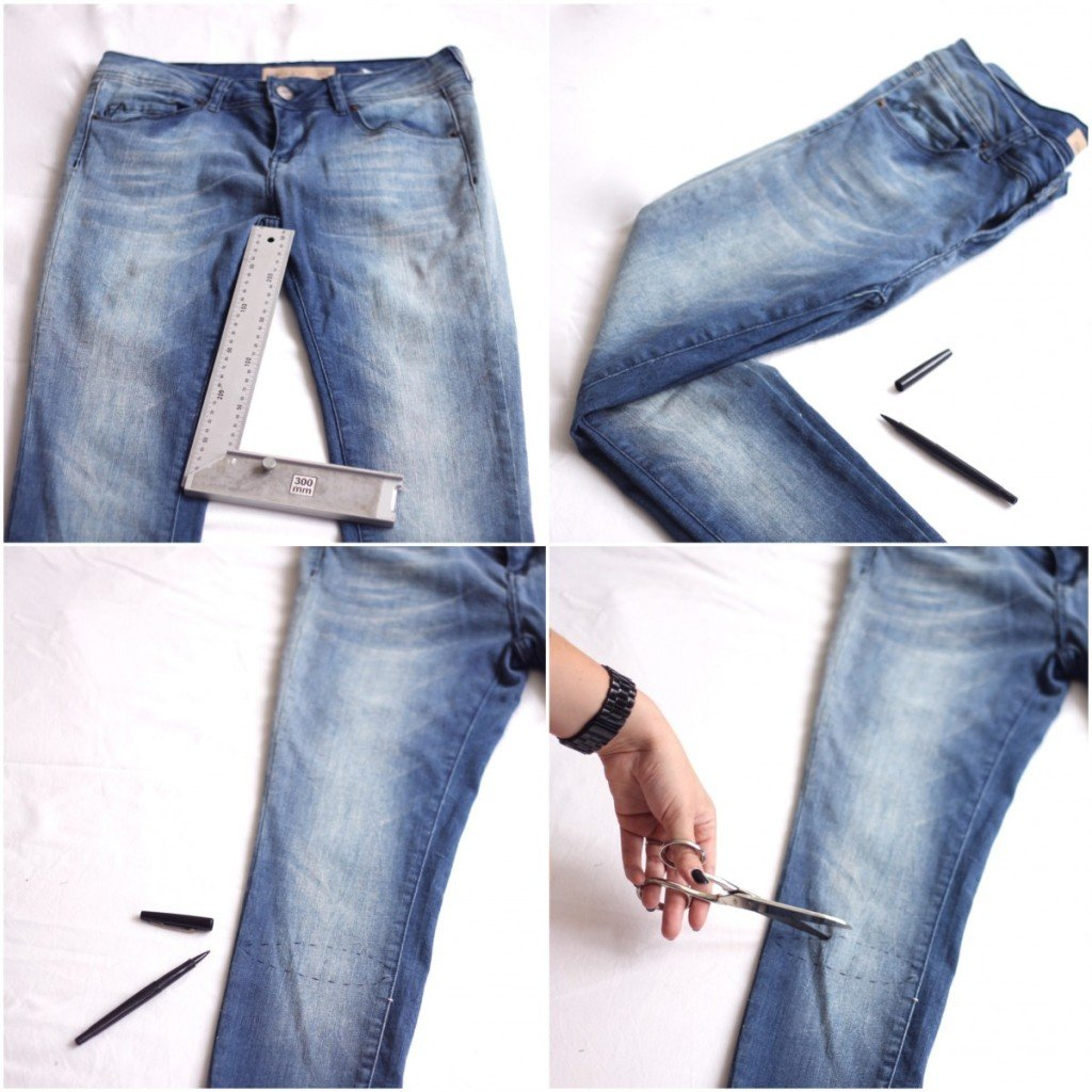 How To Cut Jeans Into Ripped Jeans