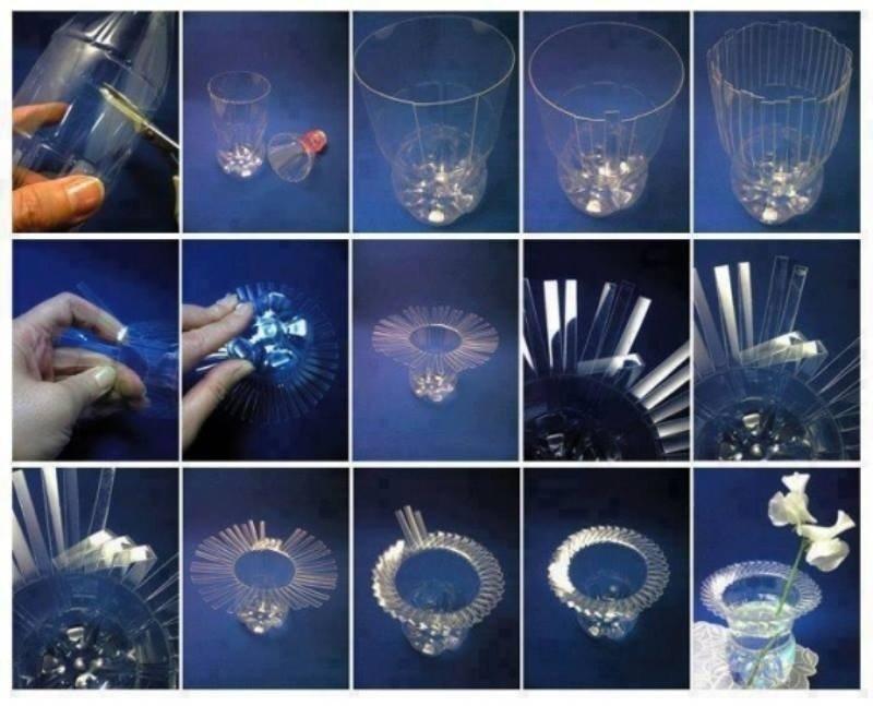 Поделки из прозрачных бутылок