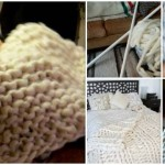 Lovely Giant DIY Fluffy Blanket That You'll Love to Knit Yourself and Snuggle Under