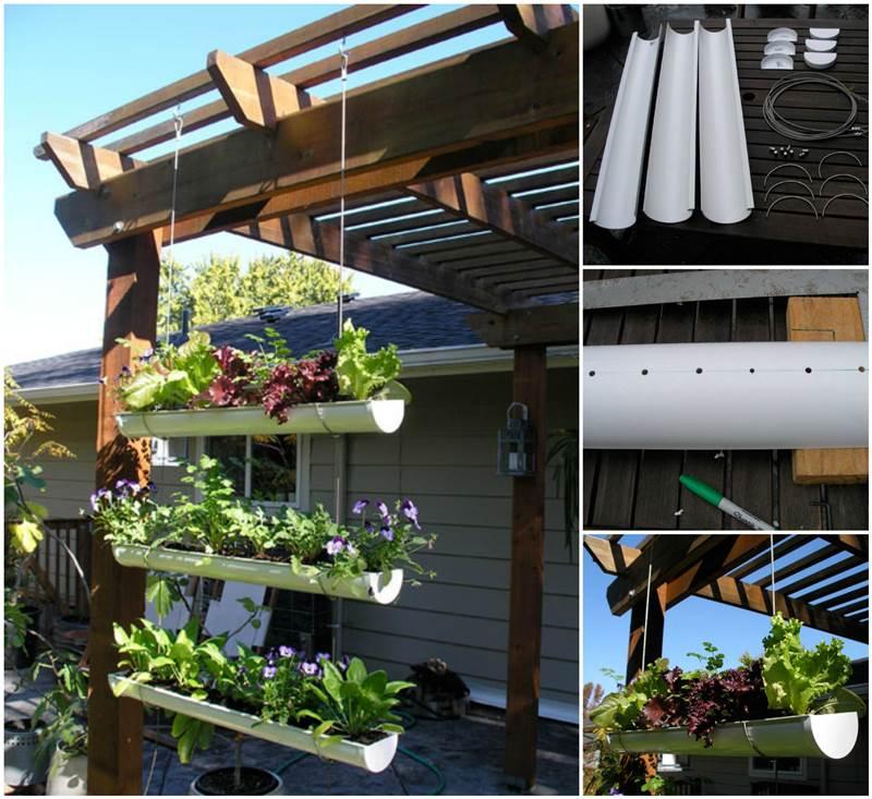 15 diy low budget garden ideas for the perfect backyard for Hanging vegetable garden ideas