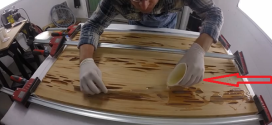 Pours Resin On The Piece Of Wood And Create Something Absolutely Amazing
