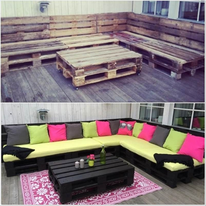 1. DIY Amazing Outdoor Pallet Lounge