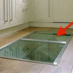 This Man Put A Secret Window On His Kitchen Floor. The Reason? GENIUS!