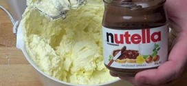 He Mixed Nutella And Butter And Creates The Best Yummy Dessert