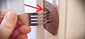 It Is A Regular Fork, But With This Amazing Easy Trick You Could Secure Any Door In A Pinch