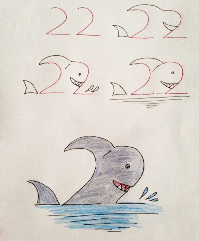 20 Creative And Easy Kid Friendly Drawings That Are Made With Numbers