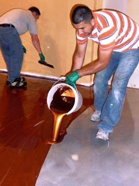 garage floor ideas diy - This Man Pours A Buckets Metallic Epoxy What He