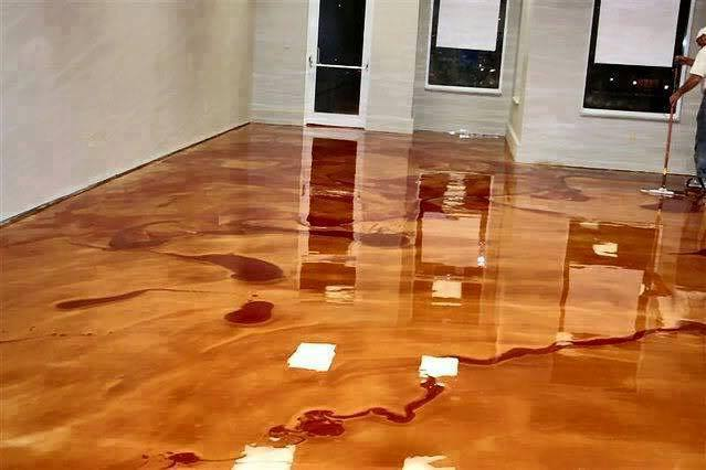 This Man Pours A Buckets Of Metallic Epoxy. What He Creates? The Most Amazing Floor Ever!