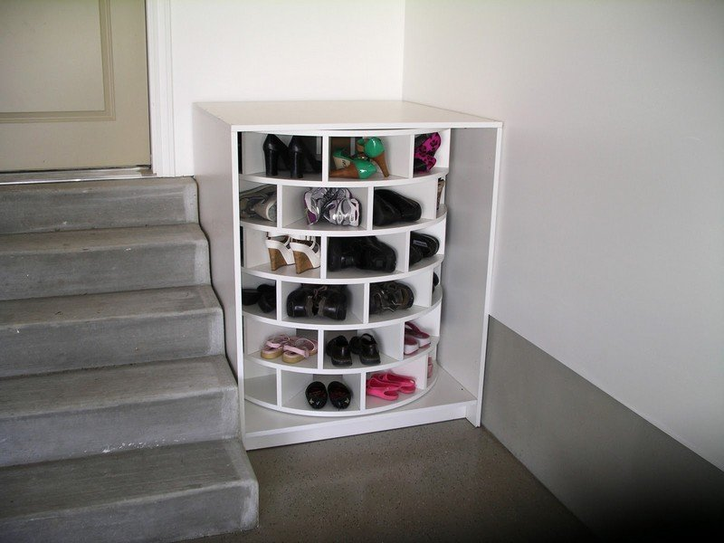 Lazy Susan Shoe Storage Examples 05