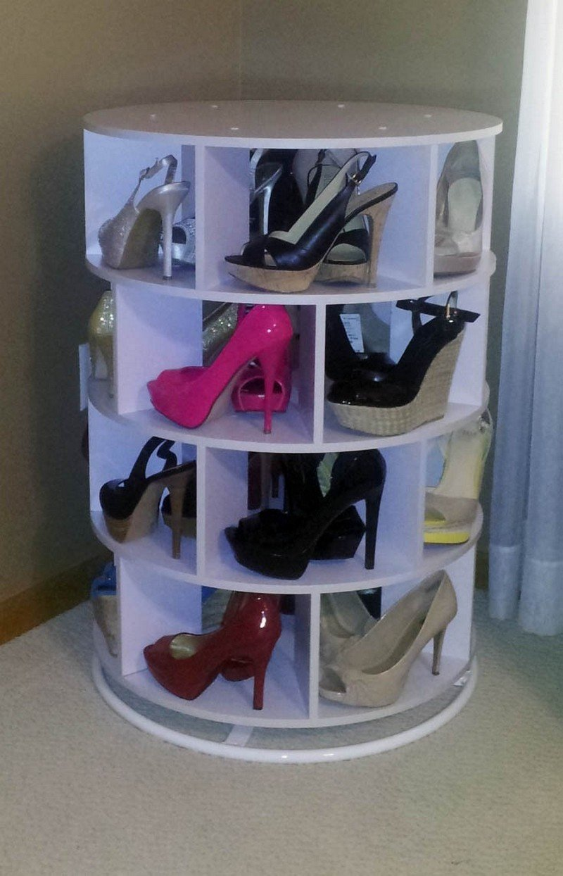 Source Lazy Susan Shoe Storage Examples 10