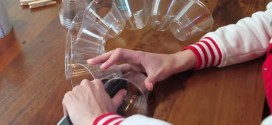 He Staples Plastic Cups Together. What He Creates Is Something Brilliantly Festive