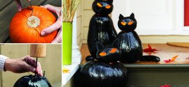 Smart and Easy Way How To Make Black Cat Jack O'Lanterns For More Spectacular Halloween Party